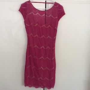 Bebe Hot Pink dress